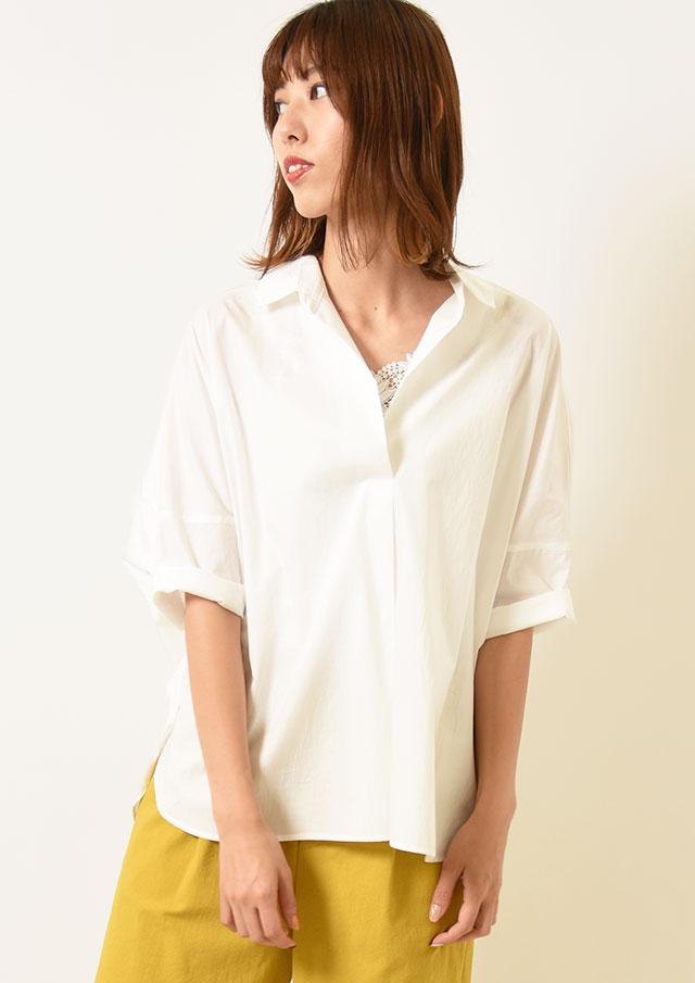 ◆タイプライタースキッパープルオーバーシャツ【HM8310】【26】