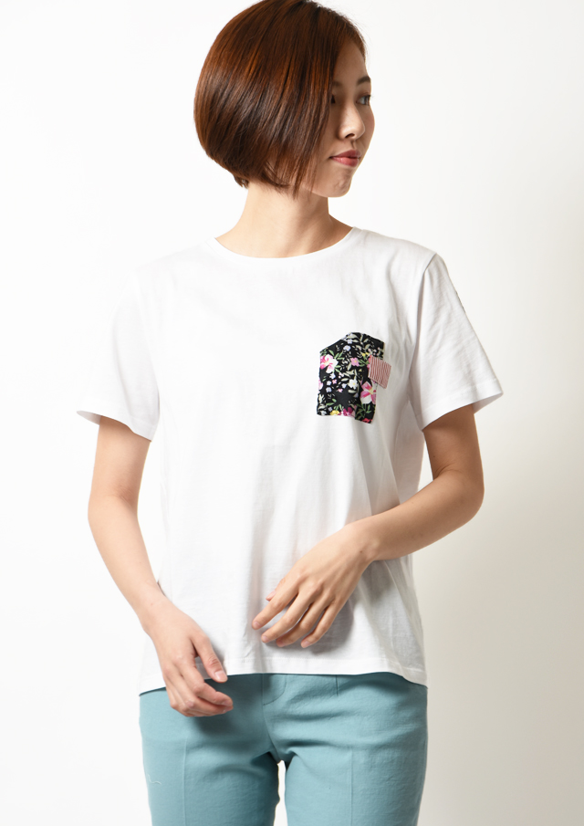 SALE!!【2020】異素材プリントTシャツ【HS20901】【80】