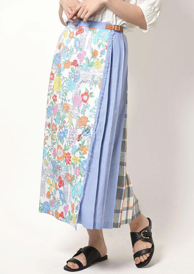 ◆ONeil_of_Dublin オニール・オブ・ダブリン リネンイージーキルトスカート【T5083】【26】