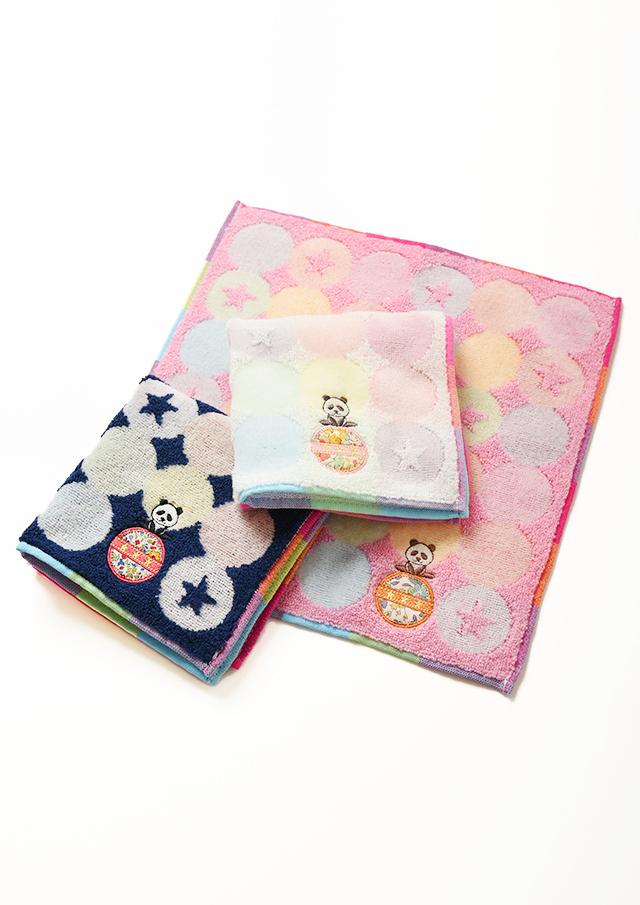 ◆リバティプリントパンダ刺繍タオルハンカチ【19105123】【27】