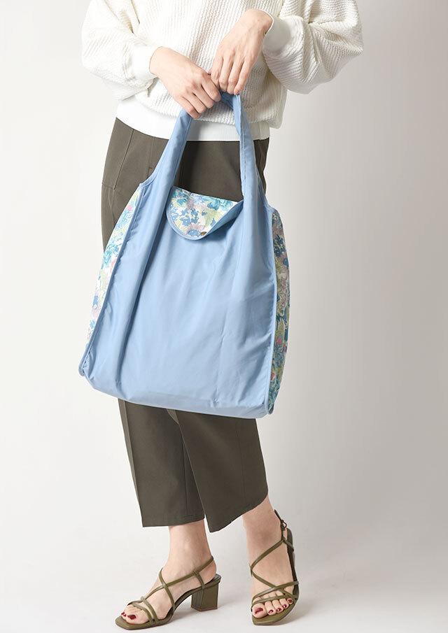 ◆リバティプリントフラップ付き携帯エコバッグ【19303014】【27】
