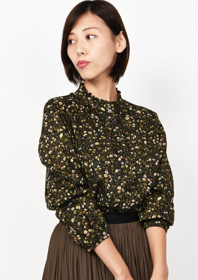 ONLINE_SHOP限定【2019】リバティフリルネックシャツ【1932012】【27】
