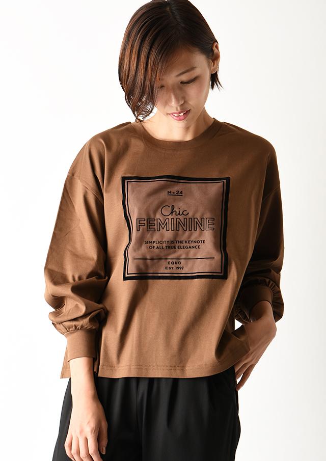 【2020】チュールフロッキーロングTシャツ【2021012】【26】