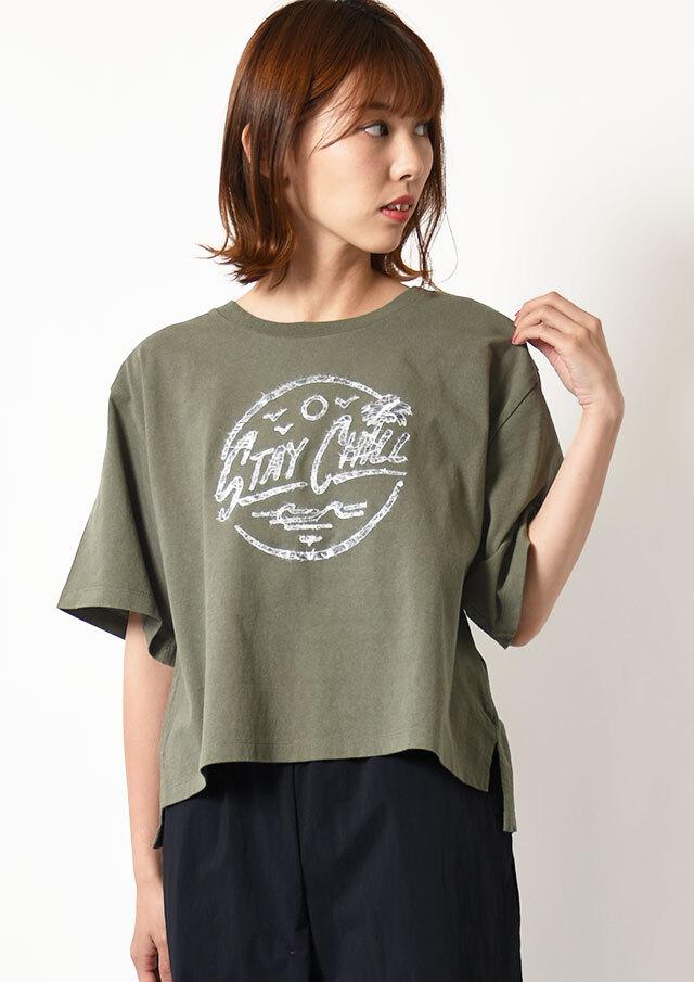 ◆和紙プリントロゴTシャツ【2111003】【26】