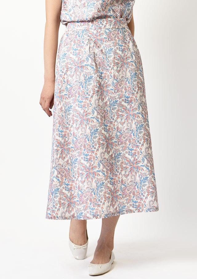 ONLINE_SHOP限定◆リバティサイドボタンスカート【2121035】【27】