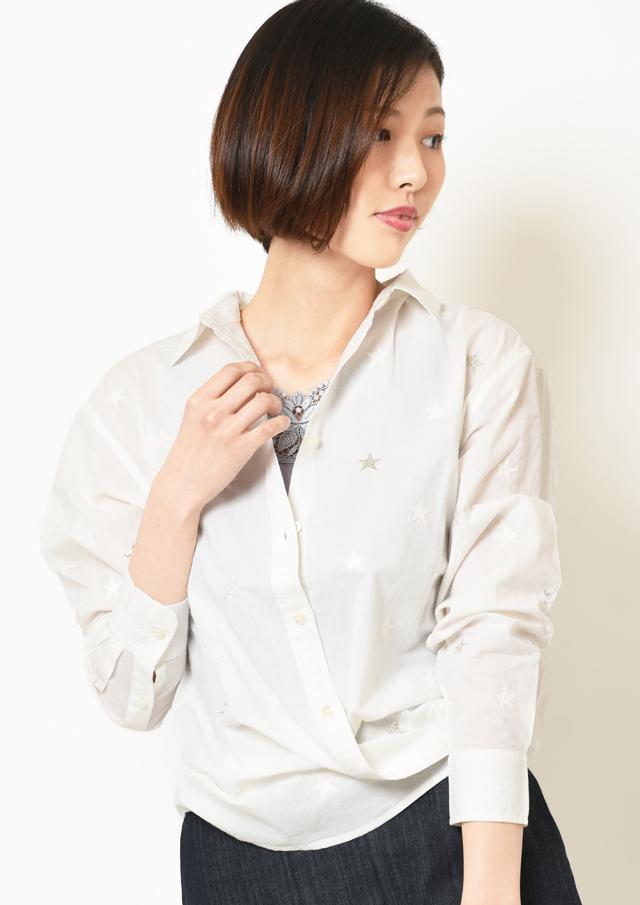 【2019】スター刺繍シャツ【30-5370】【26】