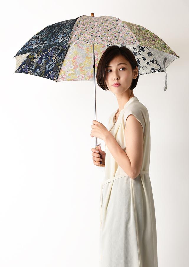 【2020】リバティプリントパッチワーク折りたたみ傘【49088】【27】