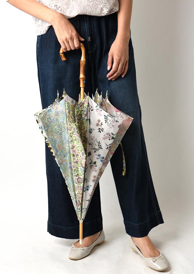 ◆リバティプリントパッチワーク長傘【50039】【27】