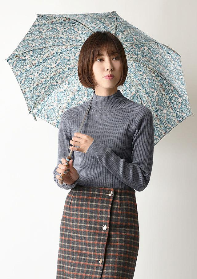 ◆リバティプリント折りたたみ傘【51077】【27】