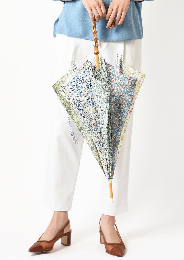 ◆リバティプリントパッチワーク長傘【52057】【27】