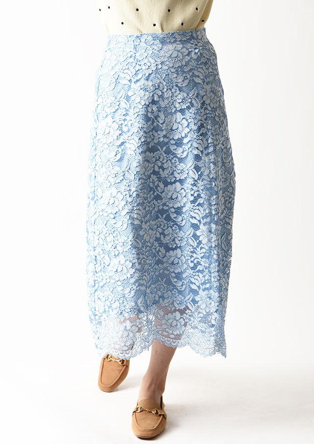 ◆レースAラインスカート【6209-445】【26】