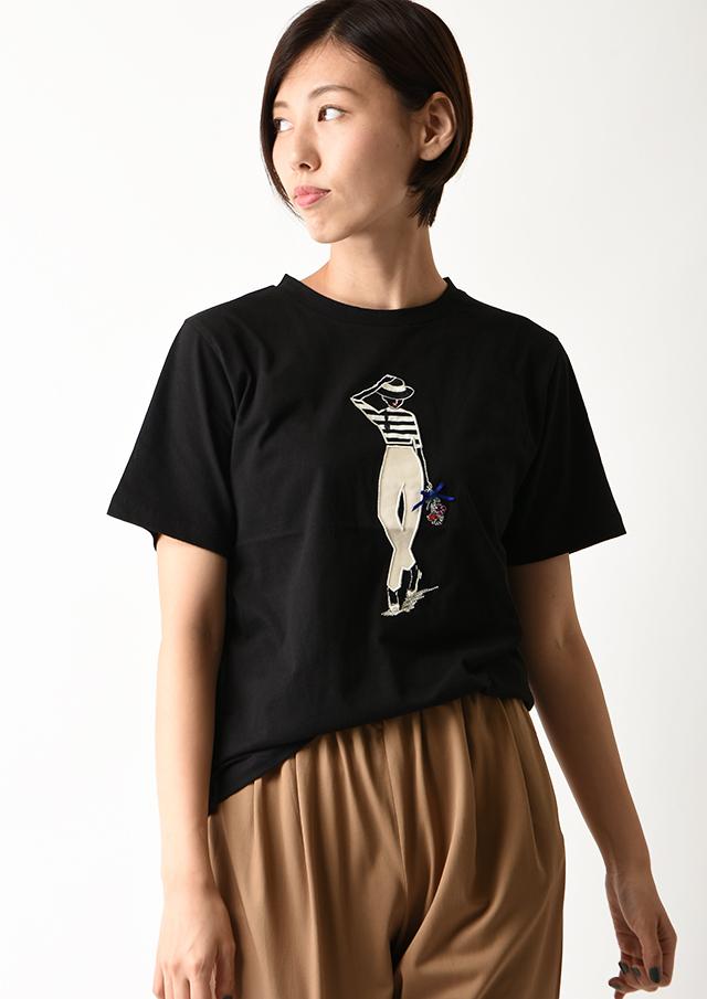 SALE!!【2020】32天竺モチーフ刺繍Tシャツ【H0060625】【26】