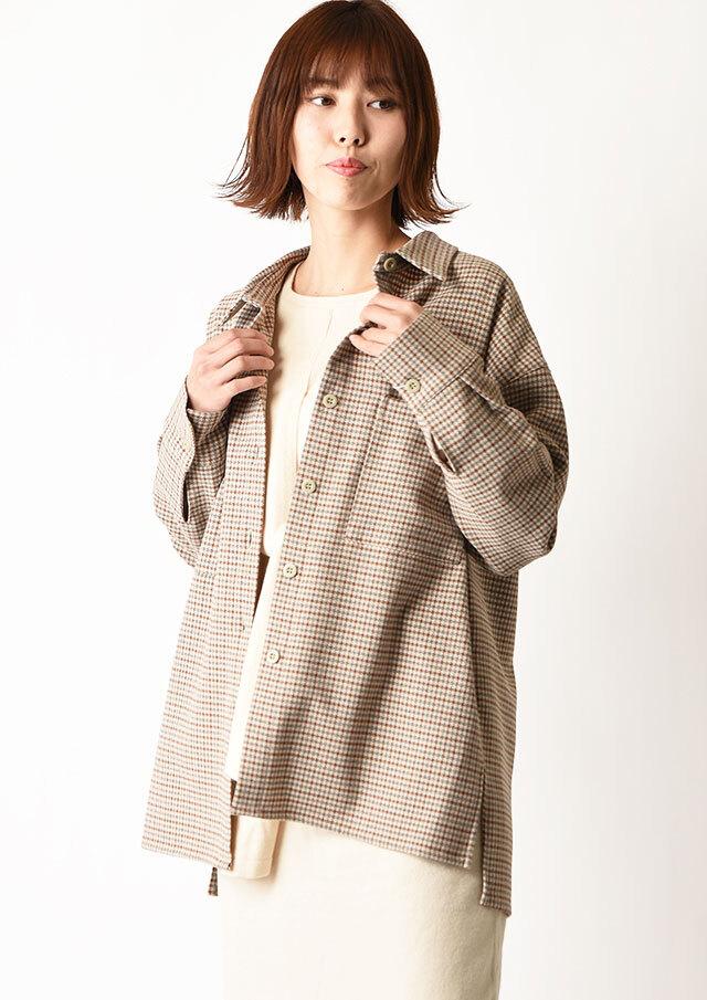 ◆ガンクラブチェックルーズシャツ【H0111-141】【26】