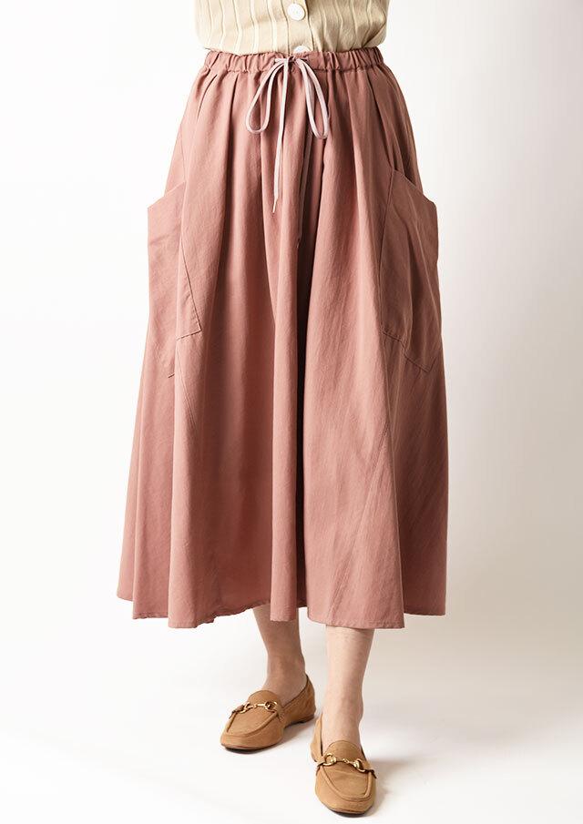 ◆サイドポケットドロストギャザースカート【H027024】【80】