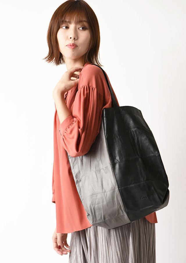 ◆レザーポケッタブルトートバッグ【H1071】【80】