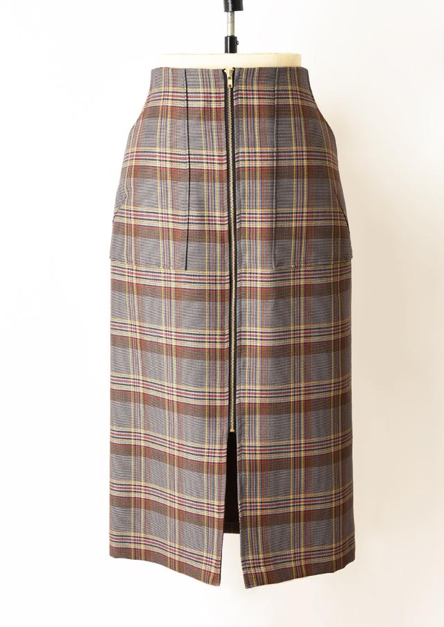 SALE!!【2019】バレンシアチェックタイトポケットスカート【H1823004】【27】