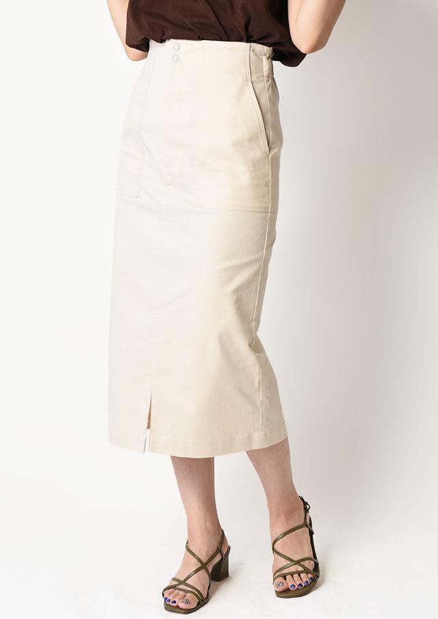 ◇◆デニムIラインタイトスカート【H2119045】【80】