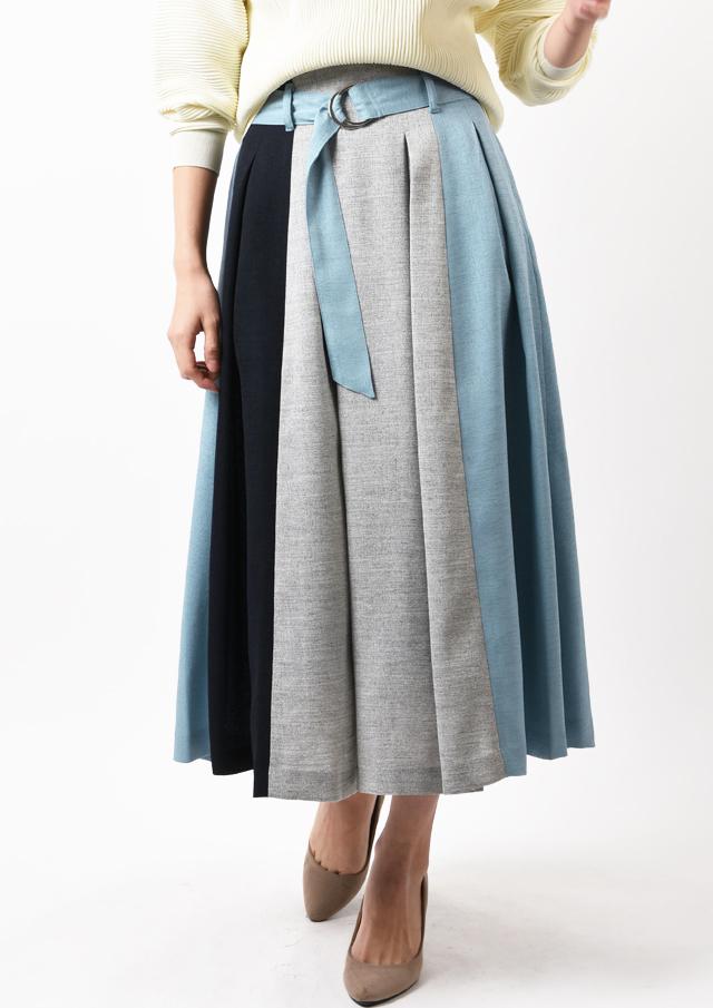 SALE!!【2020】配色Dカンベルト付きスカート【H22401】【80】