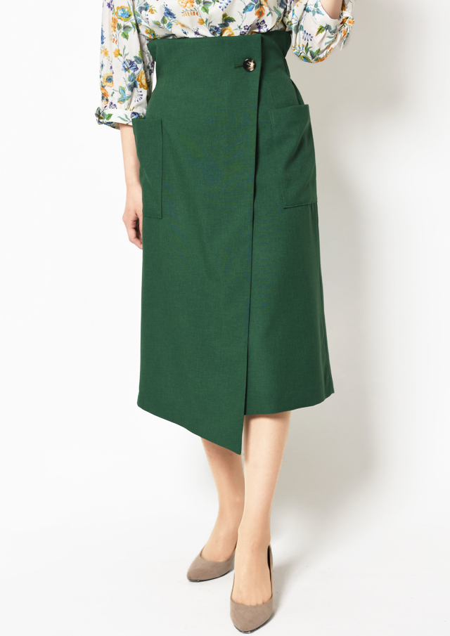 【2019】ハイウエストラップスカート【H53514】【80】