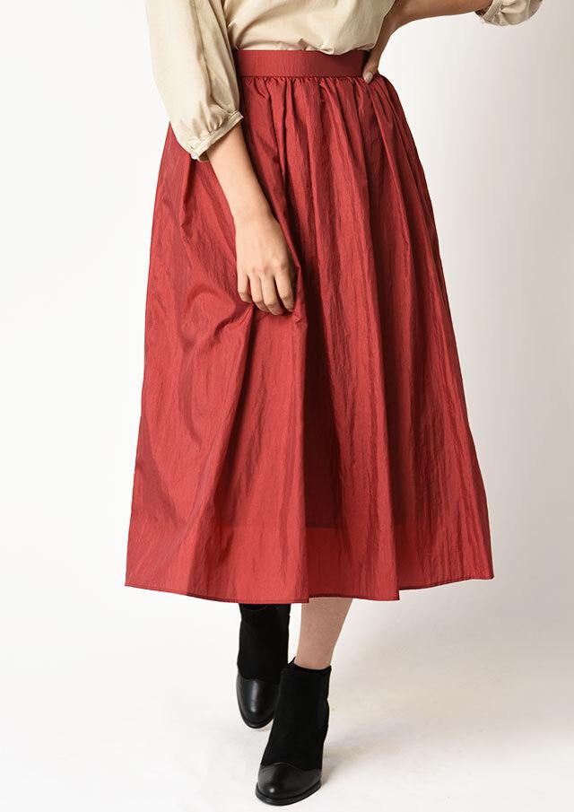 ◆シャイニーワッシャータックギャザースカート【H6546】【26】