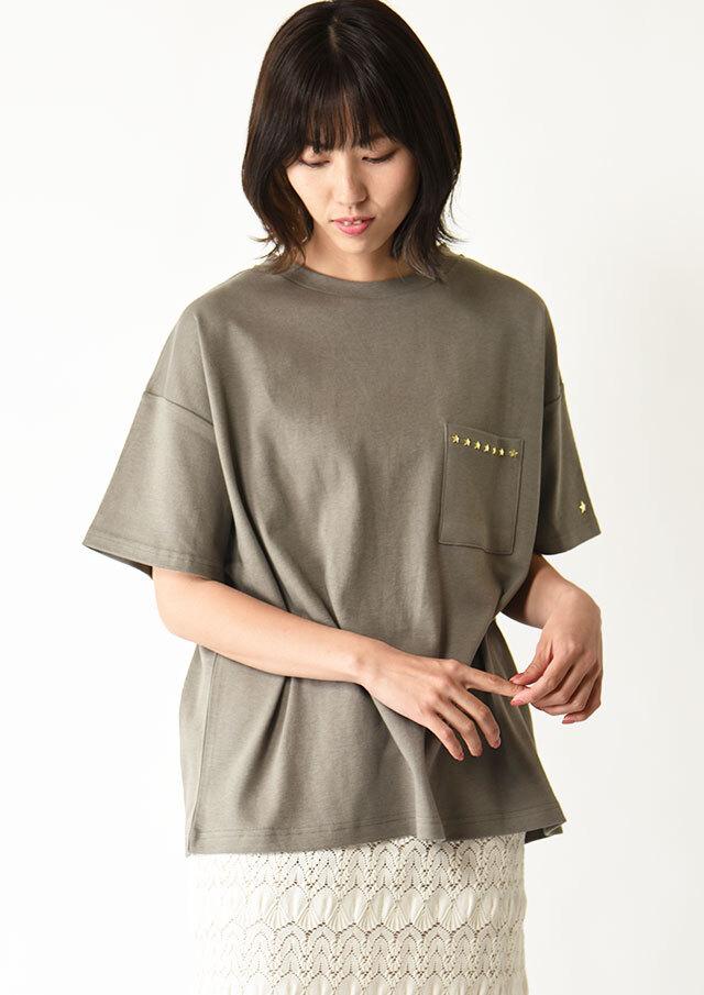 ◆スタースタッズポケットTシャツ【H7121001】【27】