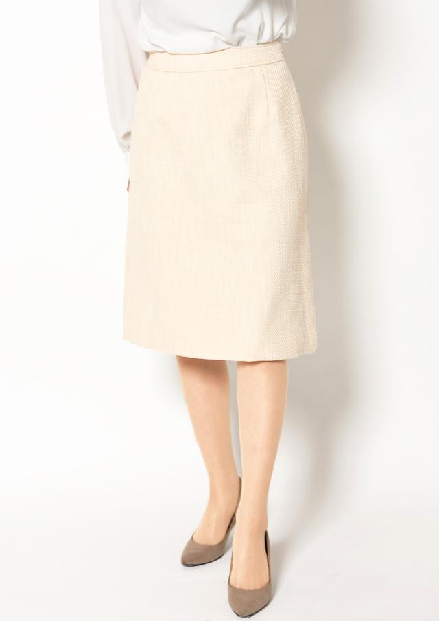 【2019】綾織りツイードタイトスカート【H8296500】【26】