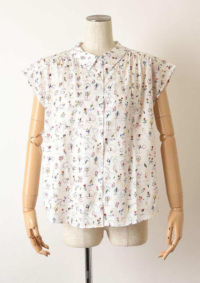 【2020】リバティフレンチスリーブヨークタックシャツ【HB050006】【26】