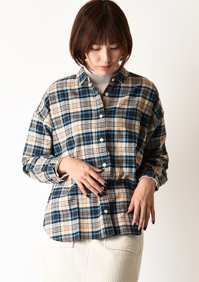 ◆ネルチェックオーバーシャツ【HB050512】【26】