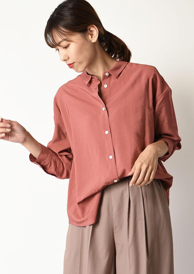 ◆レーヨンナイロンタンブラーオーバーシャツ【HB051503】【26】