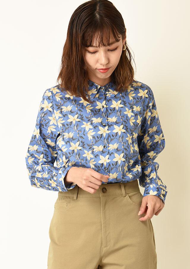 ◆リバティレギュラーカラーシャツ【HB051506】【26】