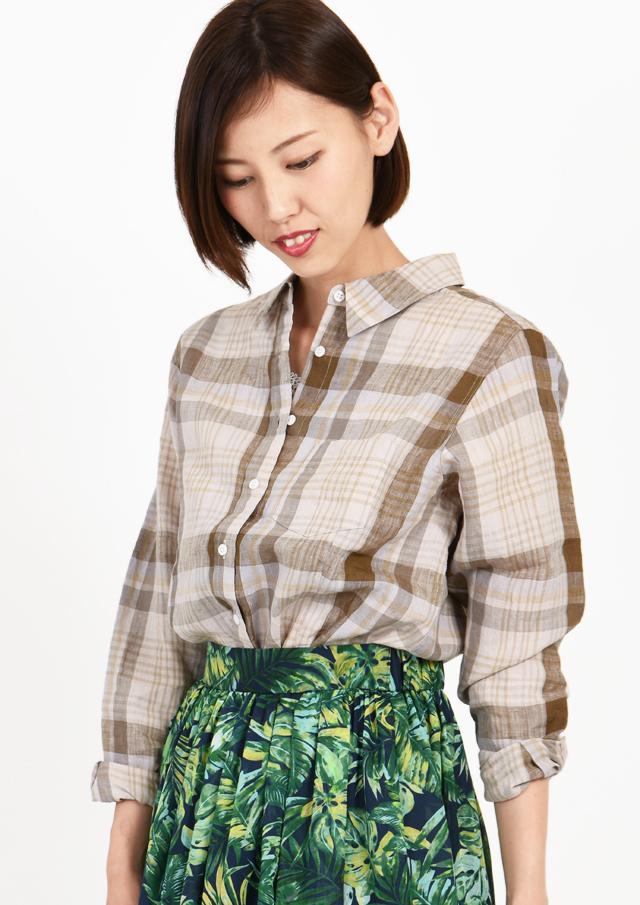 【2019】プレミアムリネンレギュラーシャツ【HB059011C】【26】