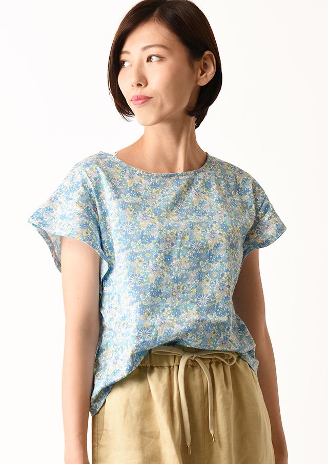 【2020】リバティ天竺フレアスリーブTシャツ【HB070001】【26】