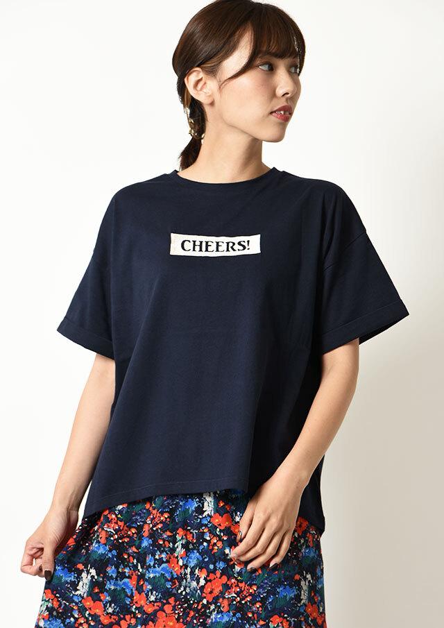 ◆32天竺ロゴ刺繍ロングTシャツ【HB071003】【26】