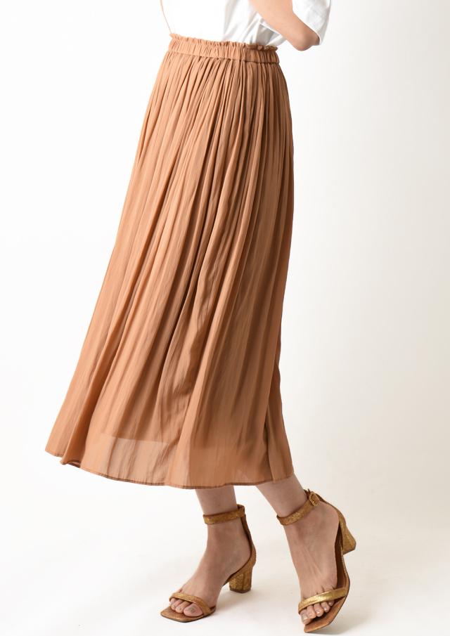 【2020】割繊楊柳ギャザーロングスカート【HB080501】【26】