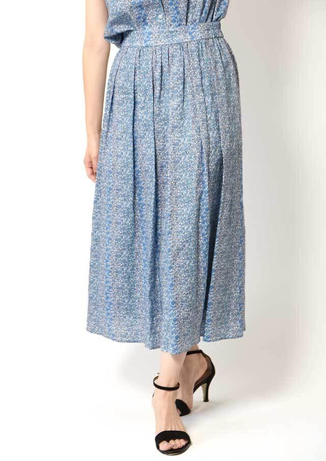 ◆リバティフランダースリネンタックギャザースカート【HB081003】【26】