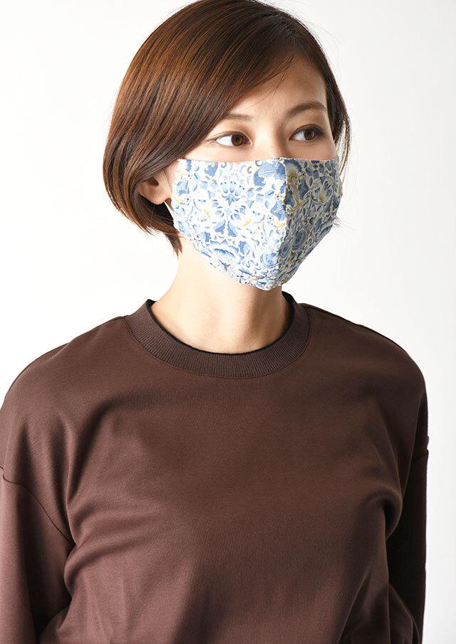 ◆マスクケース付きリバティプリントマスク【HB100500B】【26】【返品不可】