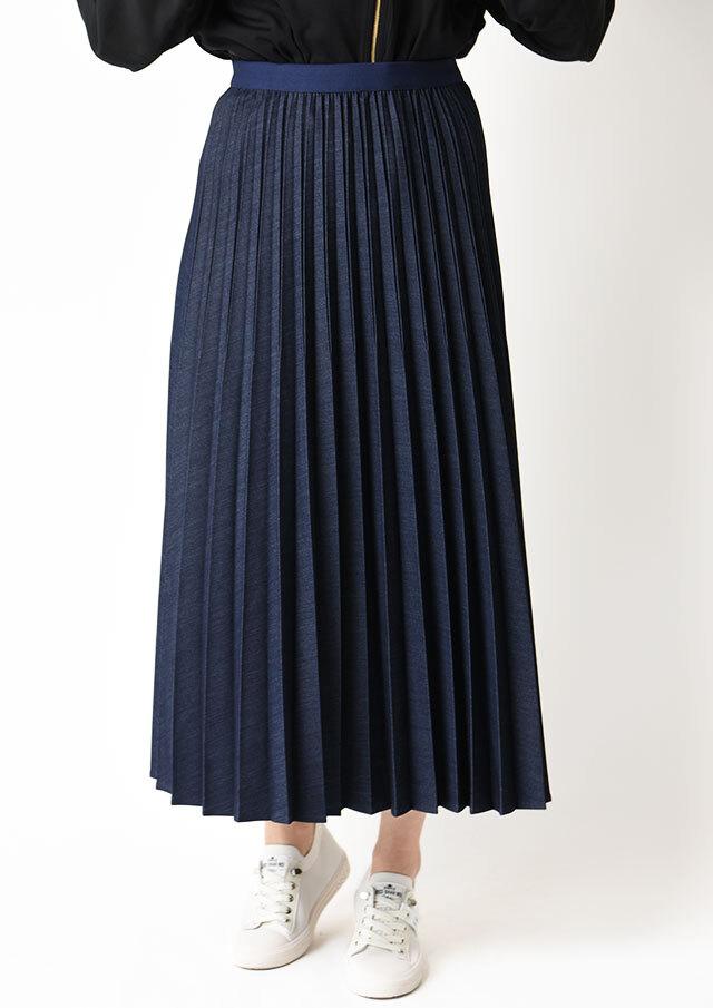 ◆エレガンスデニムプリーツスカート【HF-838】【61】