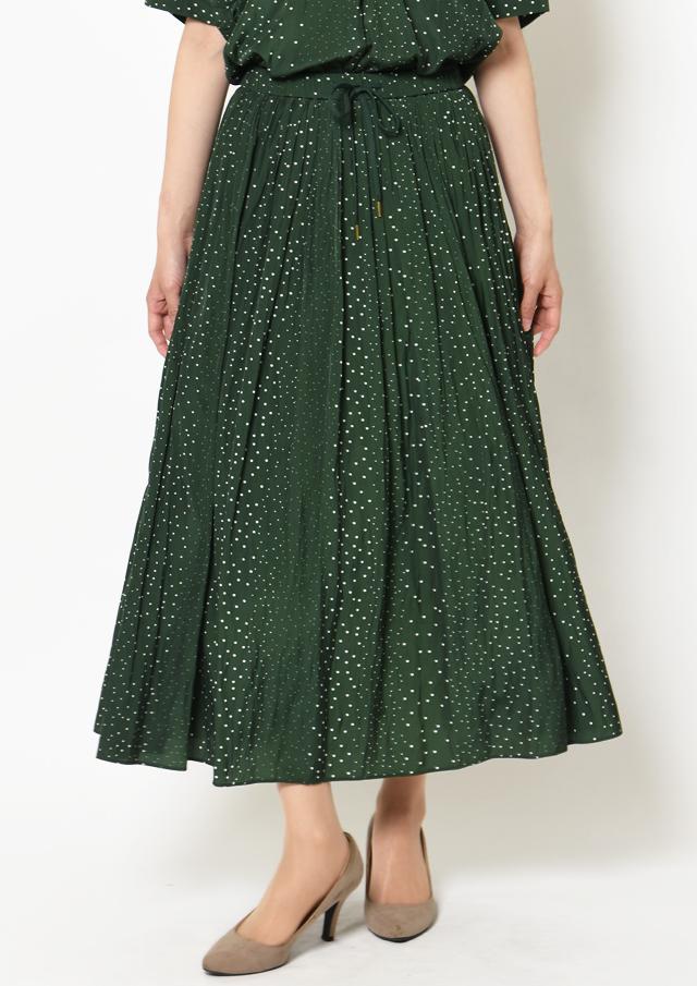 【2019】ランダムドットドロストギャザースカート【HF5620】【26】