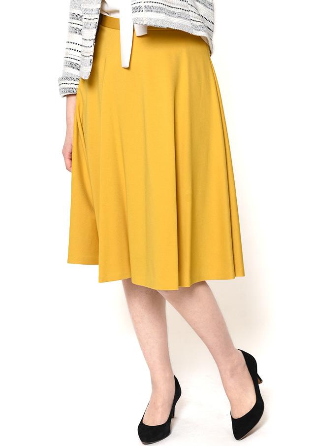 SALE!!【2018】ポンチリボン付きフレアスカート【HI8117】