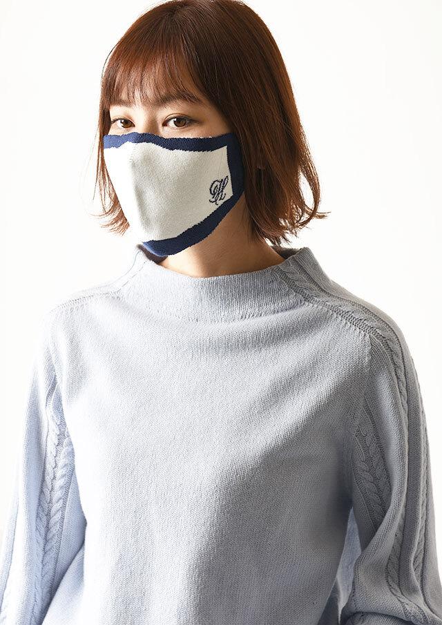 ◆ロゴ入りニットマスク【HNM2700】【26】【返品不可】