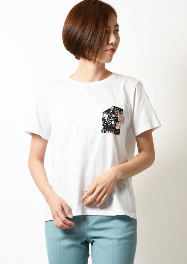 ◇◆異素材プリントTシャツ【HS20901】【80】