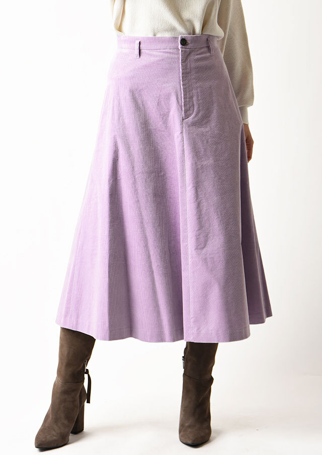 ◆コーデュロイフロントボタンフレアスカート【HU2022】【26】