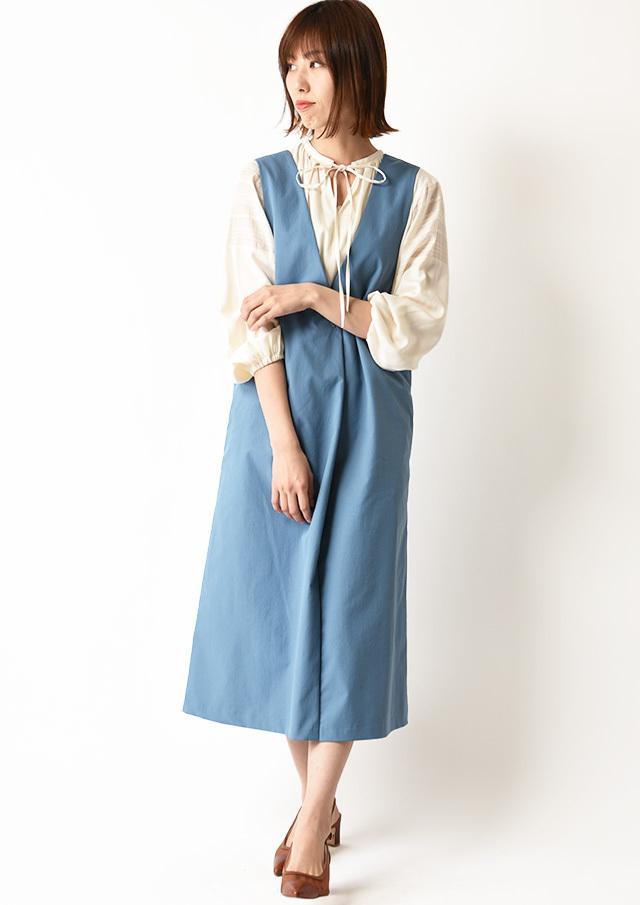 ◇◆チノライクVネックジャンパースカート【HU2169】【26】