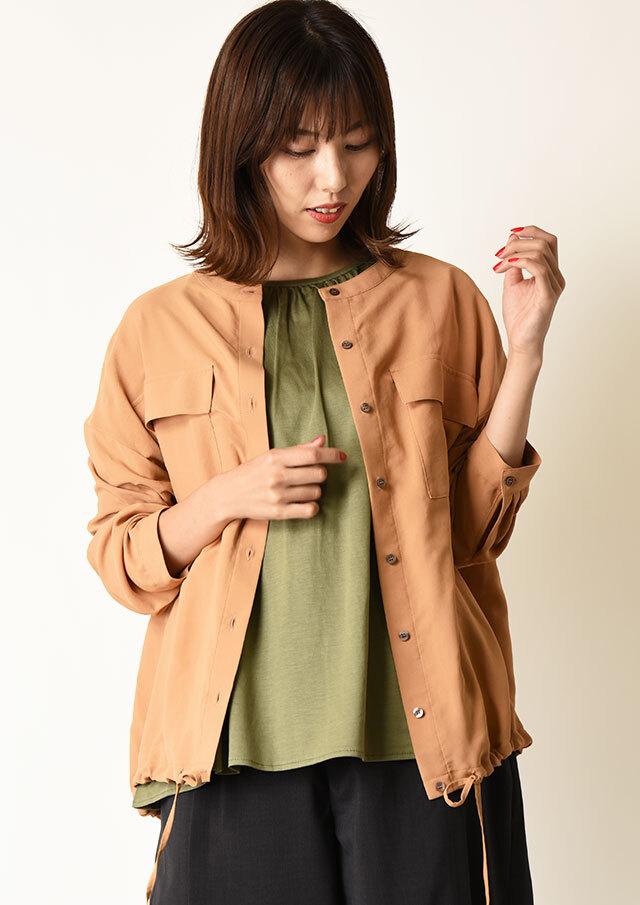 ◇◆ソフトタッチツイル裾ドロストシャツ【HU2256】【26】