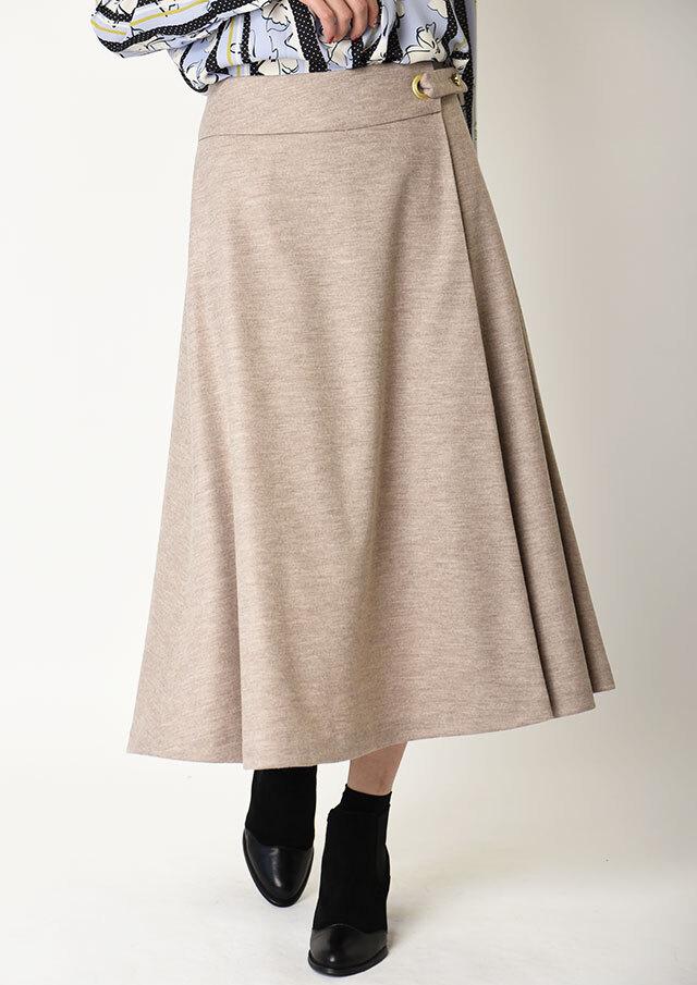 【2019】サテン×チュールギャザーリバーシブルスカート【HU2385】【26】