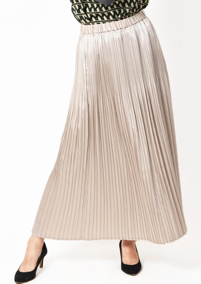 【2019】サテンプリーツロングスカート【HU2485】【26】