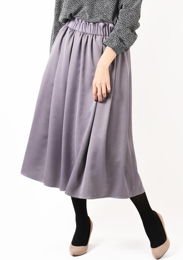 SALE!!【2019】ハンマーサテンギャザースカート【HU2844】【26】