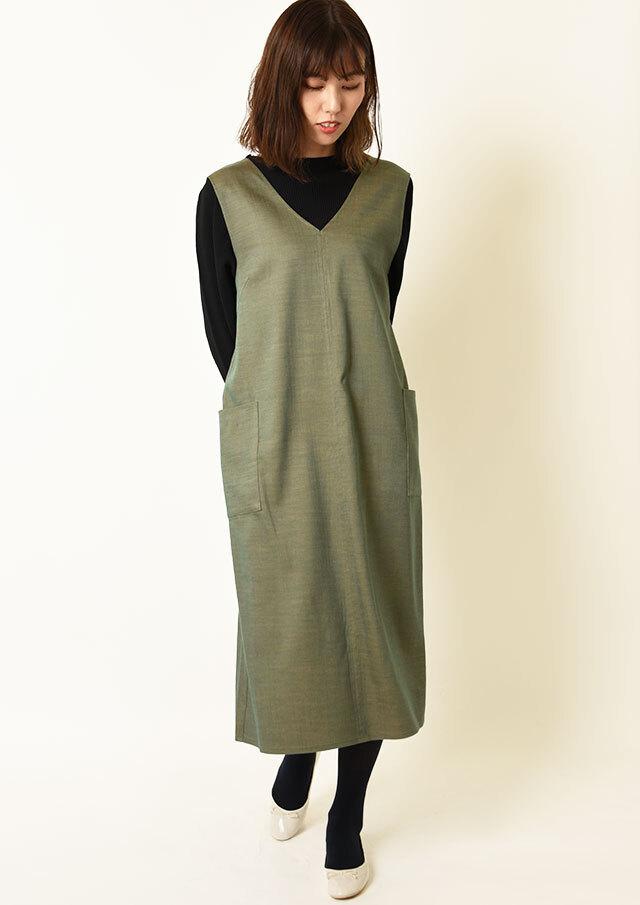 ◆オトナオックスVネックジャンパースカート【HW021503】【61】