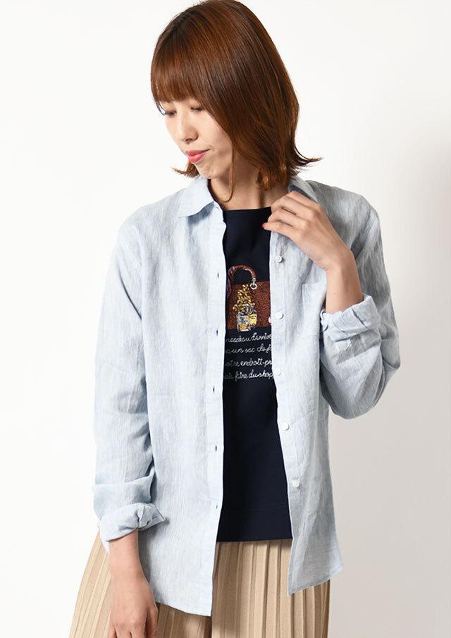 ◆フレンチリネンシャンブレーシャツ【HW051001】【61】