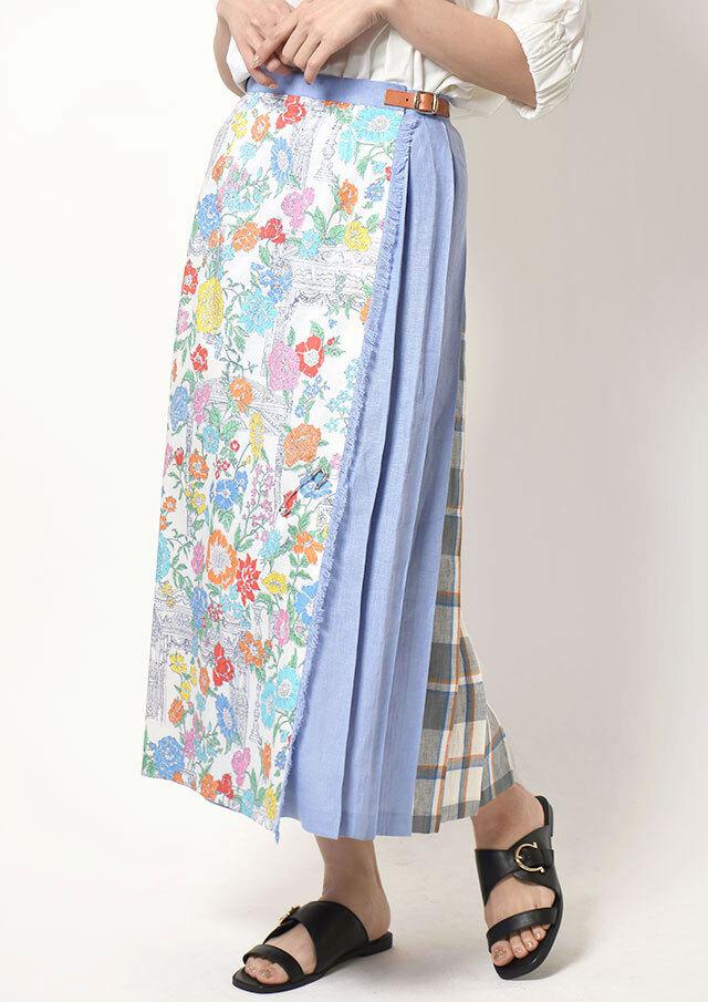 ◆ONeil_of_Dublin|オニール・オブ・ダブリン|リネンイージーキルトスカート【T5083】【26】